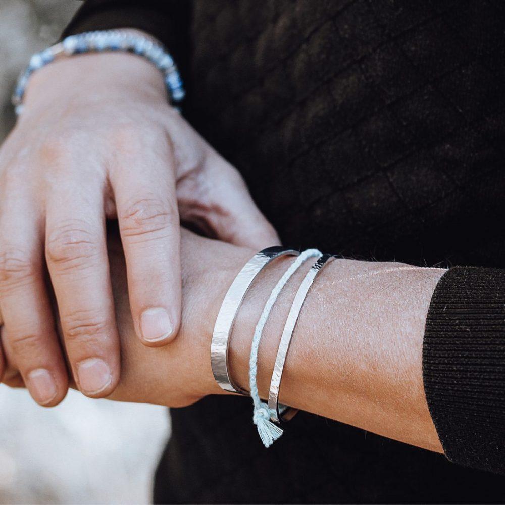 Bracelets-Jonc-Bijou-Homme-ou-Femme-Acier-Martele-Made-in-France