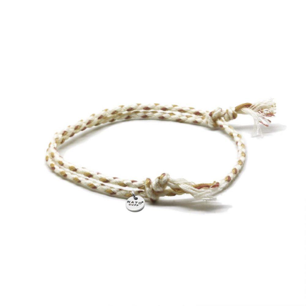 Nato Cuff-Bracelet Coton tresse beige Made in France