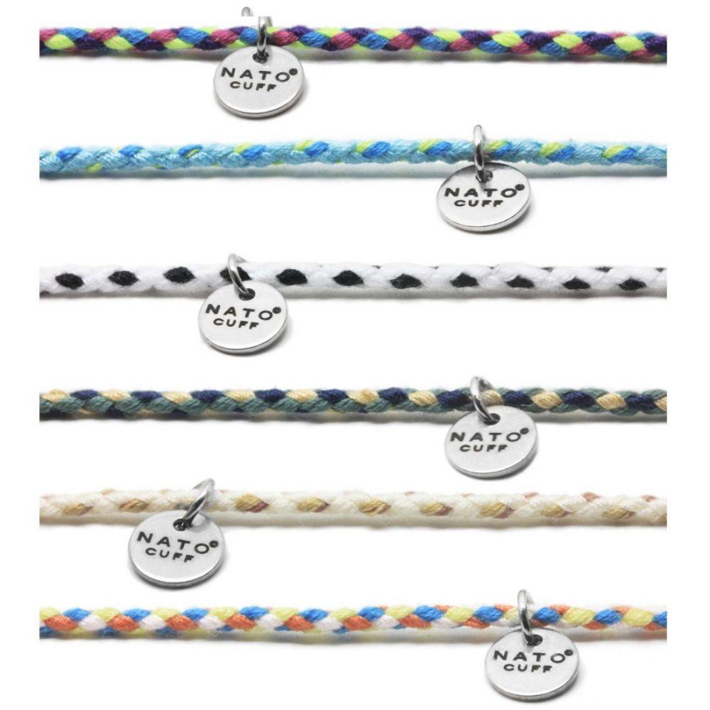 Combo Collection Bracelets Coton Ajustables Nato Cuff copie