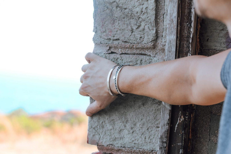 Nato Cuff – Bracelets Joncs Acier Martele Made in France
